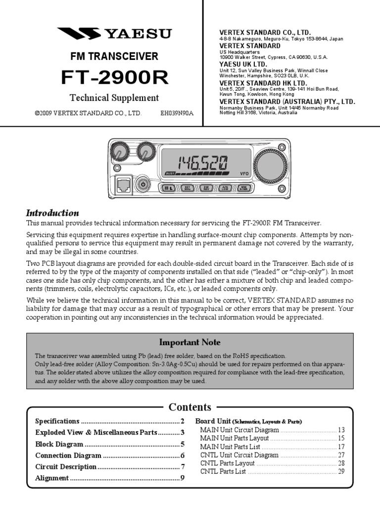 Yaesu FT 2900R Service Manual | Amplifier | Electronic Filter