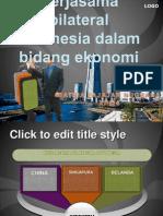 49613877 Kerjasama Bilateral Indonesia Dalam Bidang Ekonomi