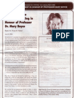 Collection of Pages in Honour of Professor Mary Boyce