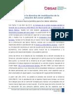 Revisión de la directiva de reutilización de la información del sector público.