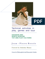 Saharan and North African Toy and Play Cultures. Technical activities in play, games and toys