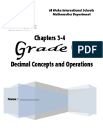 Ch 3-4 Decimal Concepts and Operations