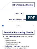 Statistical Forecasting Models.ppt
