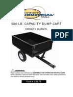 500 LB Capacity Dump Cart