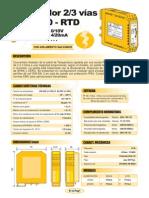 01b- Aislador Pt100-RTD (Salida 0-10V, 4-20mA)