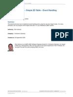 ALV Object Model - Simple 2D Table - Event Handling