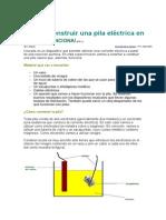 Como Construir Una Pila Electrica en Casa Que Funciona - Gomez