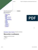 MACARRÃO À CARBONARA