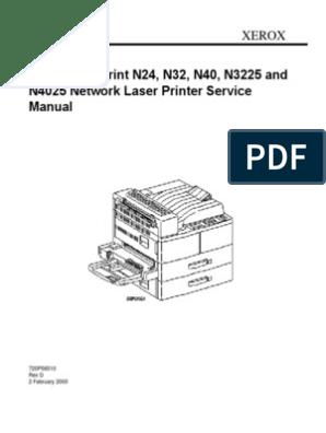 DocuPrint N3225 pdf | Printer (Computing) | Electrostatic