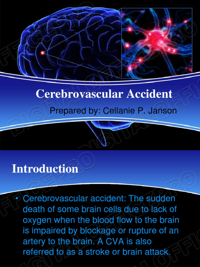 CEREBROVASCULAR ACCIDENT ppt | Stroke | Human Brain