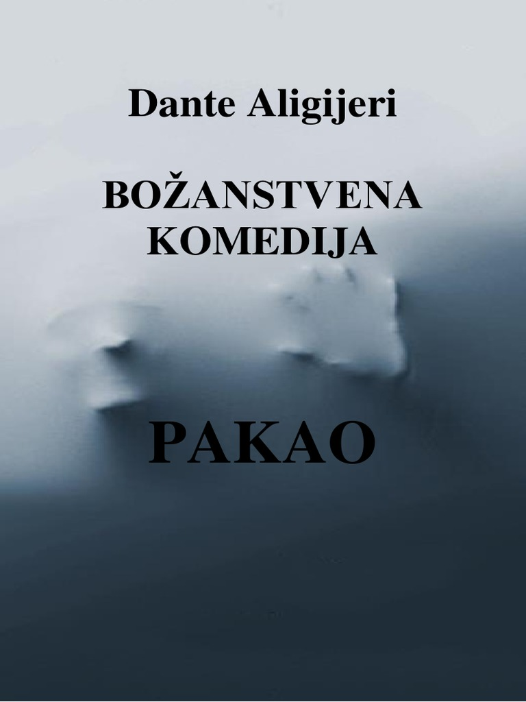Dante Aligijeri Bozanstvena Komedija Pdf