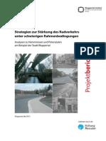 Strategien zur Stärkung des Radverkehrs unter schwierigen Rahmenbedingungen
