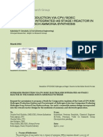 HYDROGEN PRODUCTION VIA CPV/SOEC ELECTROLYSIS INTEGRATED AS STAGE I REACTOR IN THE HABER-BOSCH AMMONIA SYNTHESIS