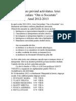 Informare privind activitatea Ariei Curriculare.doc