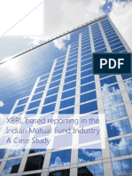 XBRL based reporting in the Indian Mutual Fund Industry