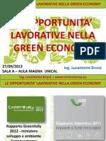 Le opportunità lavorative Green - Sett. 2013.pptx