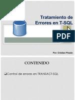 Presentacion - Base de Datos II - Tratamiento de Errores en T-SQL