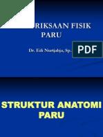 PEMERIKSAAN FISIK PARU PRADIK 2011.ppt