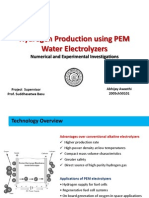 Proton exchange membrane water electrolyzer