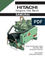 Catálogo técnico chiller hitachi samurai