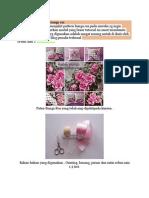 Tutoriol Cara Menjahit Bunga Ros