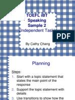 TOEFL iBT Speaking Sample 2