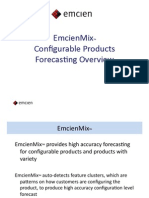 EmcienMix Configurable Products Forecasting Overview