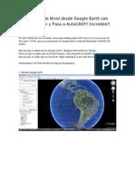 Crea Curvas de Nivel Desde Google Earth Con Global Mapper y Pasa a AutoCAD