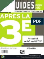 Guide Apres 3e Lyon 2012