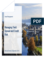 1 Managing Yield Spreads and Credit Risks Michael Schmid