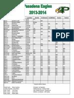 pasadena boys basketball schedule 2013-14 final