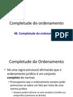 48 Completude Do Ordenamento NET