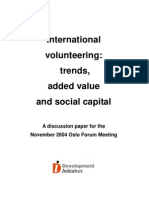 FORUM 2004 Trends Added Value and Social Capital Development Initiative