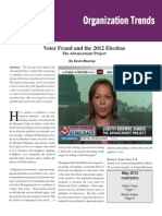 Voter Fraud and the 2012 Election