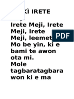 ORÍKÌ IRETE MEJI