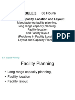 Module-3 Facility Planning
