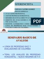 Charla Seminario Lonja de Propiedad Raiz Avaluadores Cuso Avalc3b9os