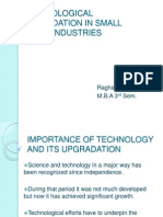 Technological Upgradation in Small Scale Industries