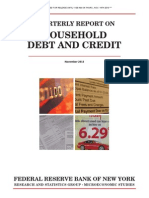 Household Debt Rises in Third Quarter 2013
