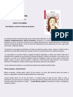 INVITACIÓN A JORNADA PEDAGÓGICA DE ESCRITURA Y A PARTICIPAR EN LA CONVOCATORIÁ BASTA COLOMBIA DURANTE LA SEMANA  QUE INCLUYE EL 25 DE NOVIEMBRE DIA INTERNACIONAL DE LA NO VIOLENCIA CONTRA LA MUJER