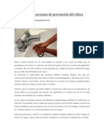 08/11/13 news Mantiene SSO acciones de prevención del cólera