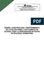 Nrf-256-Pemex-2010-Diseno, Construccion y Mantenimiento de Localizaciones y Sus Caminos de Acceso