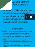 DIAPOSITIVAS COLOCACIÓN DE SONDA OROGÁSTRICA EN R