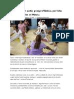11/11/13 oaxacain Implementarían partos psicoprofilácticos por fallas en clínicas rurales de Oaxaca