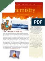 Chemistry Science November Newsletter