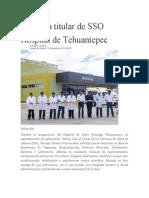 12/11/13 Ellibertadordeoaxaca Inaugura Titular de SSO Hospital de Tehuantepec