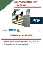 Modulo 2 del Curso de diseño de vías seguras para usuarios vulnerables