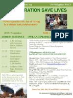 One World Institute - Nov. 13, 2013 Newsletter about Typhoon Haiyan (Yolanda) disaster relief efforts