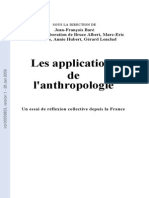 BARE J-F - Les Aplications de l'Anthropologie