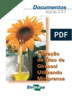 Extração do Óleo de Girassol (Embrapa)